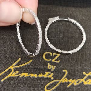 Kenneth Jay Lane Hoop Earrings